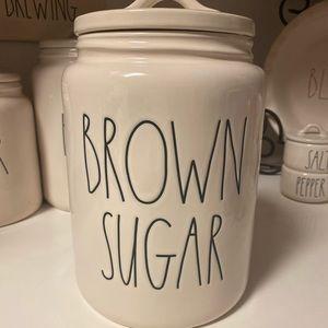Rae Dunn Brown Sugar Canister NWT